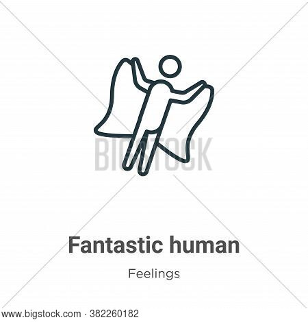 Fantastic human icon isolated on white background from feelings collection. Fantastic human icon tre