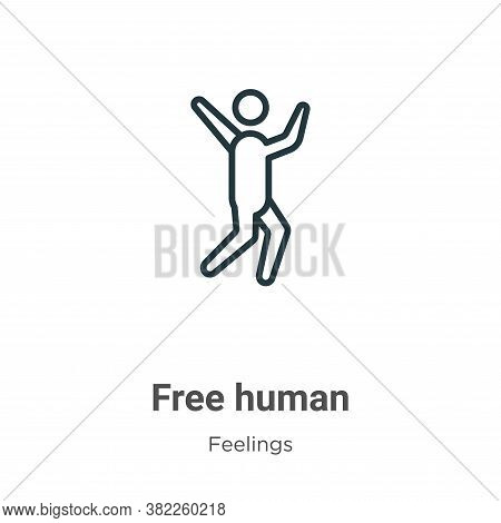 Free human icon isolated on white background from feelings collection. Free human icon trendy and mo