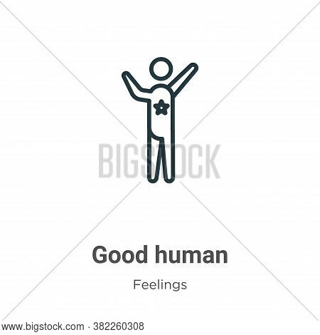 Good human icon isolated on white background from feelings collection. Good human icon trendy and mo