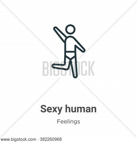 Sexy human icon isolated on white background from feelings collection. Sexy human icon trendy and mo