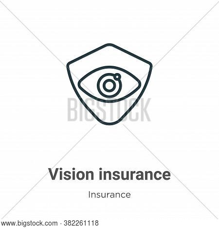 Vision insurance icon isolated on white background from insurance collection. Vision insurance icon