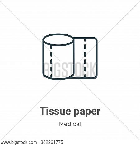 Tissue paper icon isolated on white background from medical collection. Tissue paper icon trendy and
