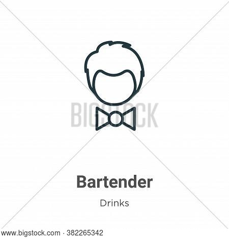 Bartender icon isolated on white background from drinks collection. Bartender icon trendy and modern