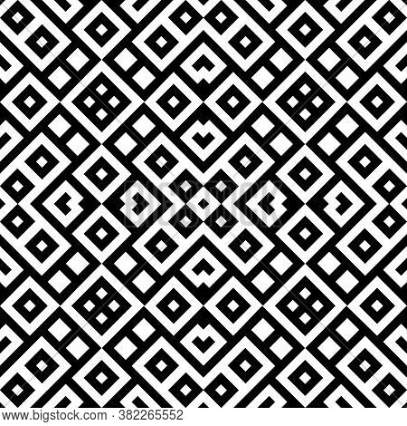 Seamless Pattern With Ethnic Ornament. Embroidery Background. Tribal Wallpaper. Ethnical Folk Image.