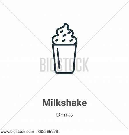Milkshake icon isolated on white background from drinks collection. Milkshake icon trendy and modern