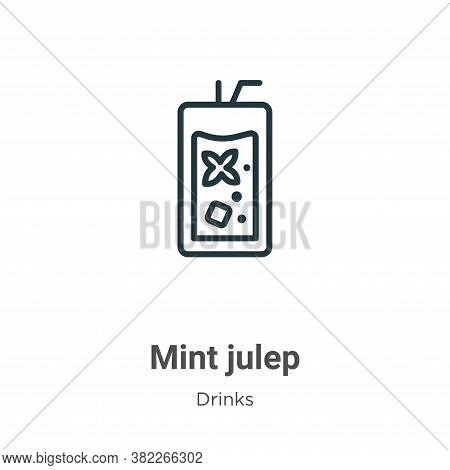 Mint julep icon isolated on white background from drinks collection. Mint julep icon trendy and mode