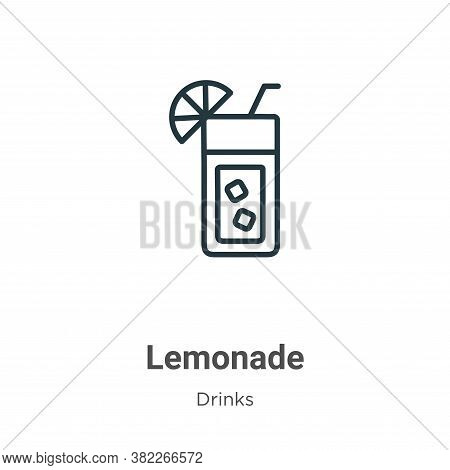 Lemonade icon isolated on white background from drinks collection. Lemonade icon trendy and modern L