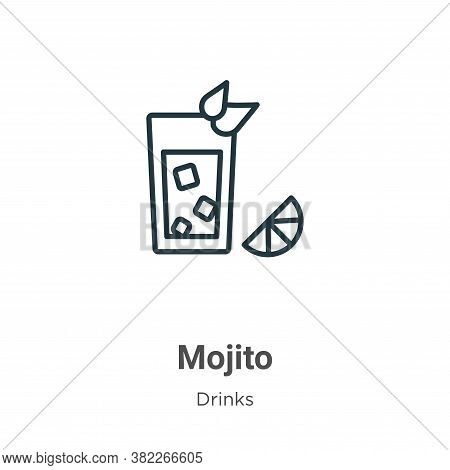 Mojito icon isolated on white background from drinks collection. Mojito icon trendy and modern Mojit