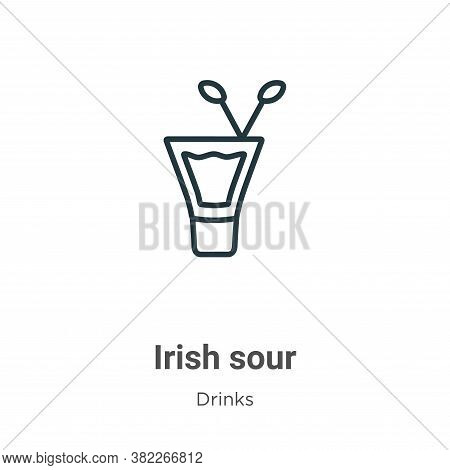 Irish sour icon isolated on white background from drinks collection. Irish sour icon trendy and mode