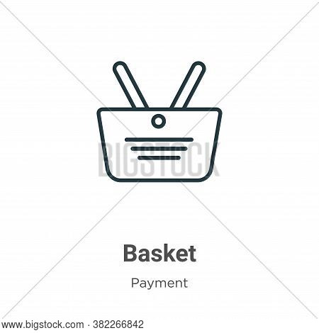 Basket icon isolated on white background from ecommerce collection. Basket icon trendy and modern Ba
