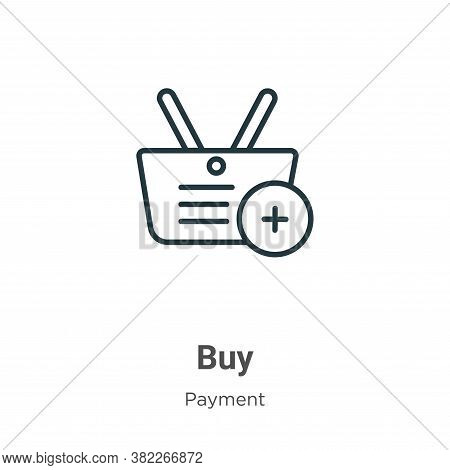 Buy icon isolated on white background from ecommerce collection. Buy icon trendy and modern Buy symb