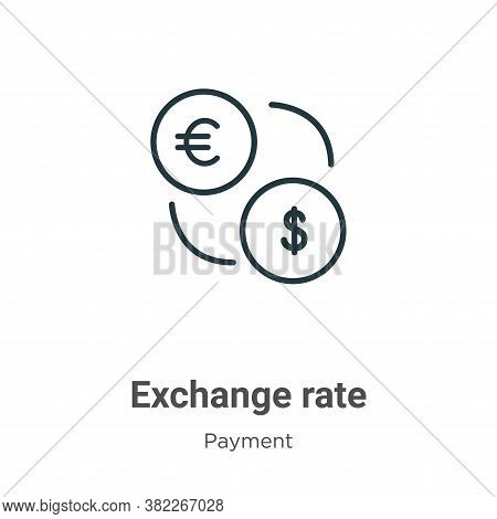 Exchange rate icon isolated on white background from ecommerce collection. Exchange rate icon trendy