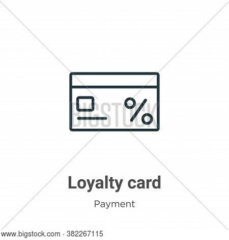 Loyalty card icon isolated on white background from ecommerce collection. Loyalty card icon trendy a