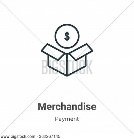 Merchandise icon isolated on white background from ecommerce collection. Merchandise icon trendy and