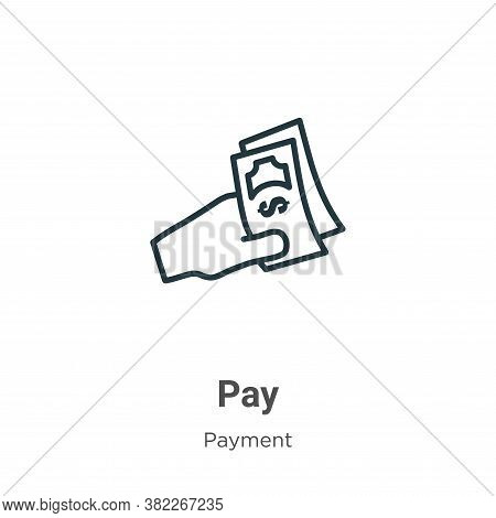 Pay icon isolated on white background from payment collection. Pay icon trendy and modern Pay symbol