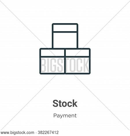 Stock icon isolated on white background from ecommerce collection. Stock icon trendy and modern Stoc
