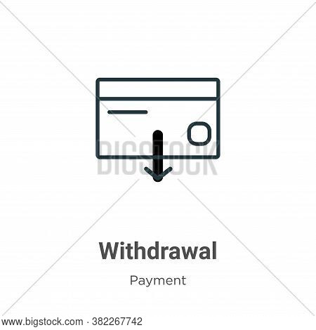 Withdrawal icon isolated on white background from ecommerce collection. Withdrawal icon trendy and m