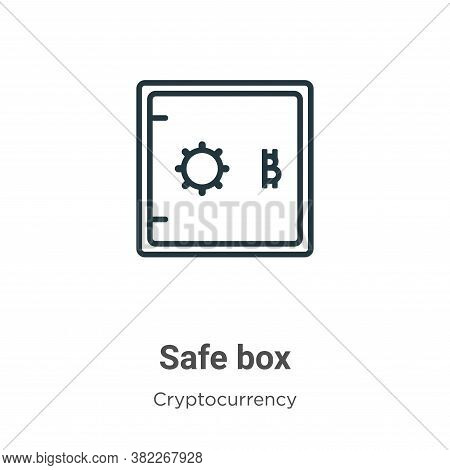 Safe box icon isolated on white background from cryptocurrency collection. Safe box icon trendy and