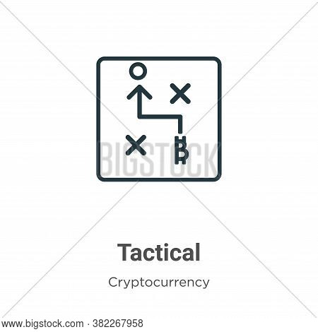 Tactical icon isolated on white background from cryptocurrency collection. Tactical icon trendy and