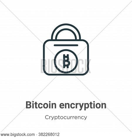 Bitcoin Encryption Icon From Cryptocurrency Collection Isolated On White Background.