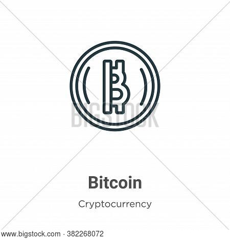 Bitcoin icon isolated on white background from cryptocurrency collection. Bitcoin icon trendy and mo