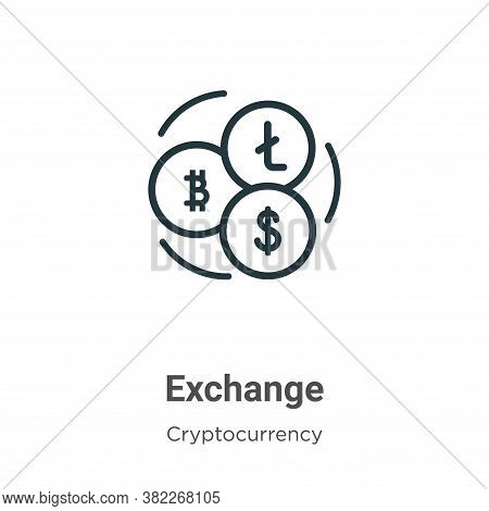 Exchange icon isolated on white background from cryptocurrency collection. Exchange icon trendy and