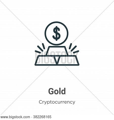Gold icon isolated on white background from economyandfinance collection. Gold icon trendy and moder