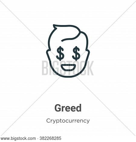 Greed icon isolated on white background from economyandfinance collection. Greed icon trendy and mod