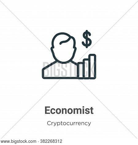 Economist icon isolated on white background from economyandfinance collection. Economist icon trendy