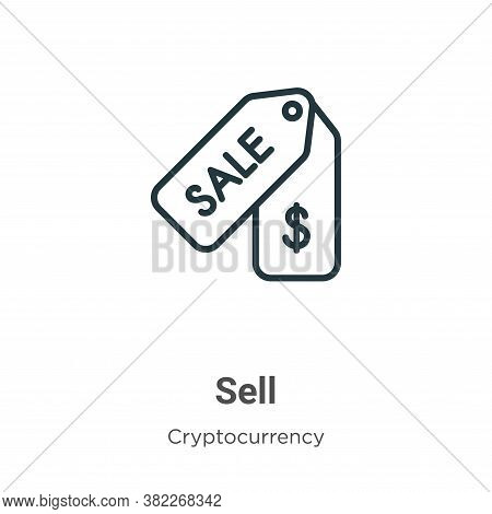 Sell icon isolated on white background from economyandfinance collection. Sell icon trendy and moder