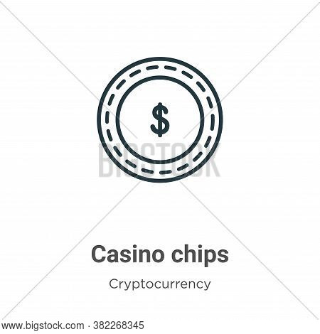 Casino chips icon isolated on white background from economyandfinance collection. Casino chips icon