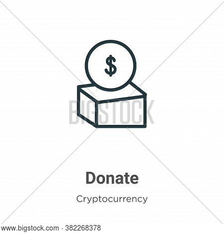 Donate icon isolated on white background from economyandfinance collection. Donate icon trendy and m