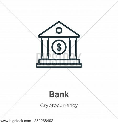 Bank icon isolated on white background from economyandfinance collection. Bank icon trendy and moder