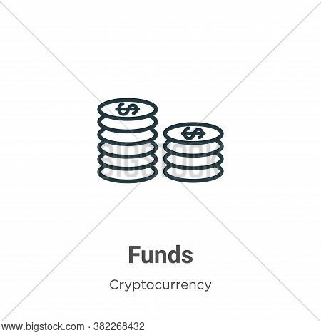 Funds icon isolated on white background from economyandfinance collection. Funds icon trendy and mod
