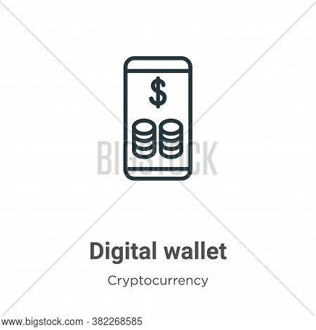 Digital wallet icon isolated on white background from economyandfinance collection. Digital wallet i