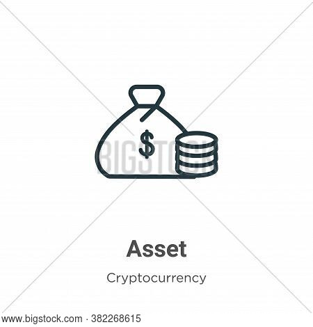 Asset icon isolated on white background from economyandfinance collection. Asset icon trendy and mod
