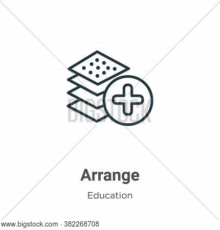 Arrange Icon From Education Collection Isolated On White Background.