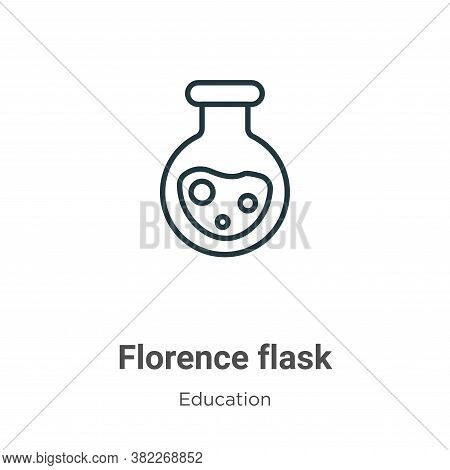 Florence flask icon isolated on white background from education collection. Florence flask icon tren