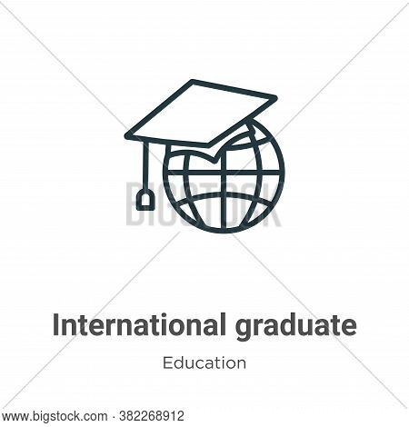 International graduate icon isolated on white background from education collection. International gr