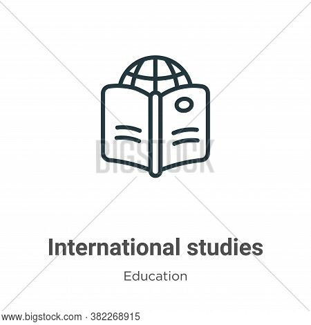 International studies icon isolated on white background from education collection. International stu