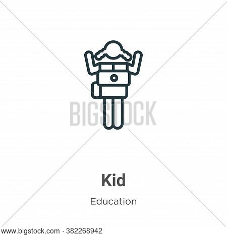 Kid icon isolated on white background from education collection. Kid icon trendy and modern Kid symb