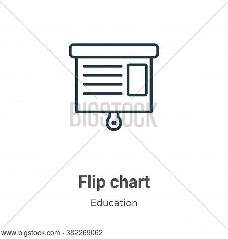 Flip chart icon isolated on white background from education collection. Flip chart icon trendy and m