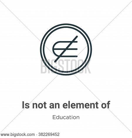 Is not an element of icon isolated on white background from education collection. Is not an element