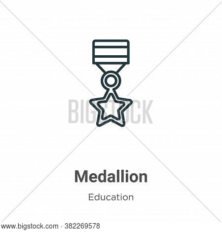 Medallion icon isolated on white background from education collection. Medallion icon trendy and mod