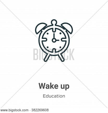 Wake up icon isolated on white background from education collection. Wake up icon trendy and modern
