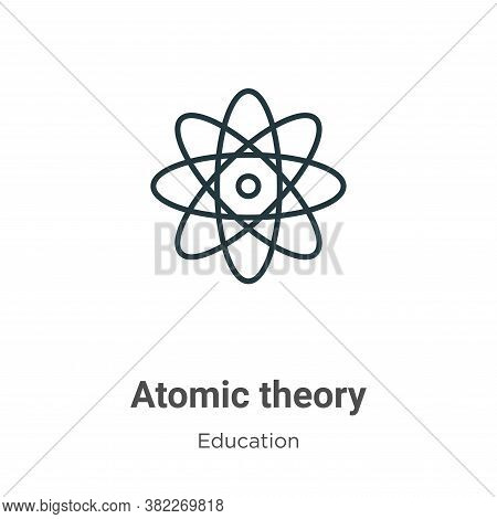 Atomic theory icon isolated on white background from education collection. Atomic theory icon trendy