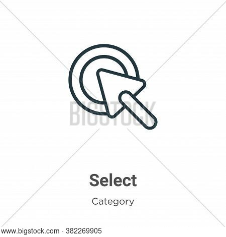 Select icon isolated on white background from cursor collection. Select icon trendy and modern Selec