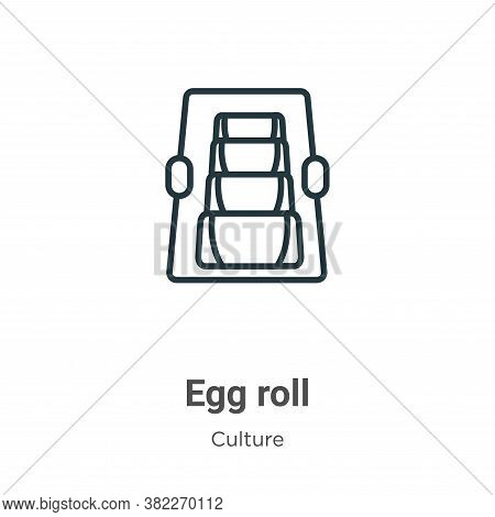 Egg roll icon isolated on white background from culture collection. Egg roll icon trendy and modern