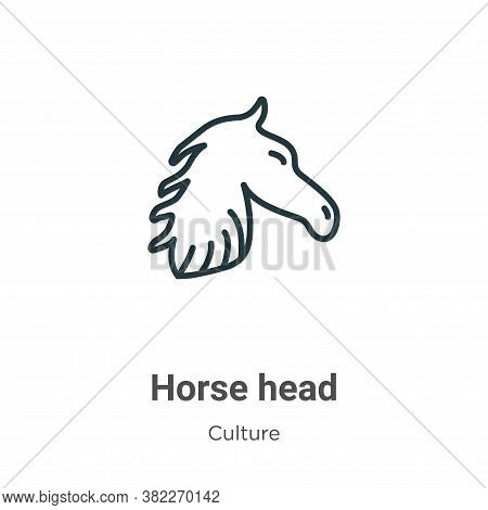 Horse head icon isolated on white background from culture collection. Horse head icon trendy and mod