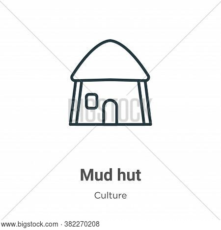 Mud hut icon isolated on white background from culture collection. Mud hut icon trendy and modern Mu